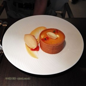 Citrus tart at Yauatcha City, London