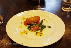 Crab croquettes at The King's Arms, Dorset