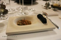 Charcoal, squid and piquillos (André Chiang), #AtxaAndreRicard at Azurmendi, Larrabetzu