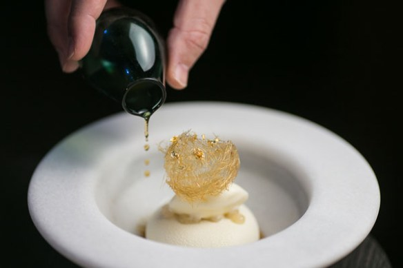HKK's Nashi pear and Champagne dessert