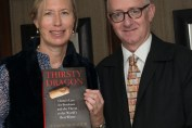 Andre Simon 2015 drink book winner Suzanne Mustacich with Acting Chairman Nicholas Lander
