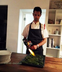 Chef cooking, Cuisson popdown