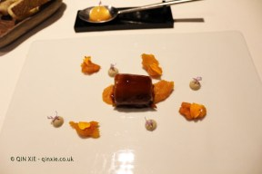 Rabbit confit, mushrooms emulsion and grilled sweet potato, Azurmendi