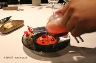 Spider crab with infusion, Azurmendi