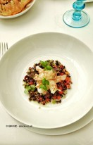 Pan-fried langoustine with wild grains at Celeste Restaurant, The Lanesborough, Knightsbridge