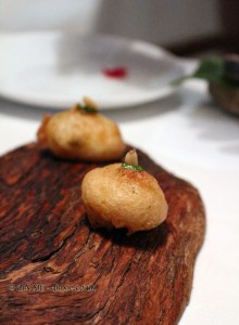 Light beignet of codfish, El Poblet, Valencia