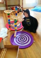birthday boy with marble maze run