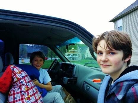 on their way to Benton