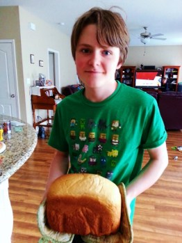 Oldest and homemade loaf of bread