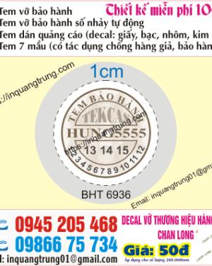 In tem bảo hành tại Hưng Yên