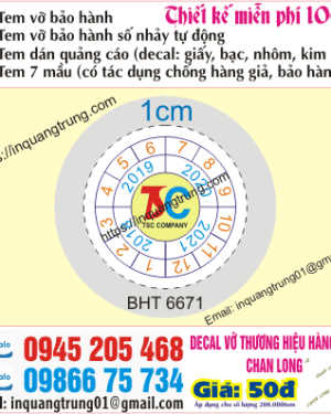 In tem bảo hành tại Nam Định