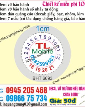 In tem bảo hành tại Quảng Trị
