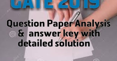 GATE CSE 2019 Answer Key