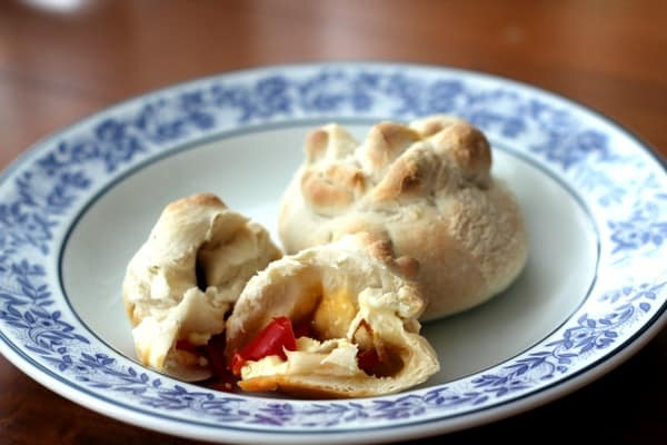 "Red Pepper and Feta ""Dumplings"""