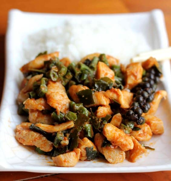 Red Curry Chicken with Snake Beans