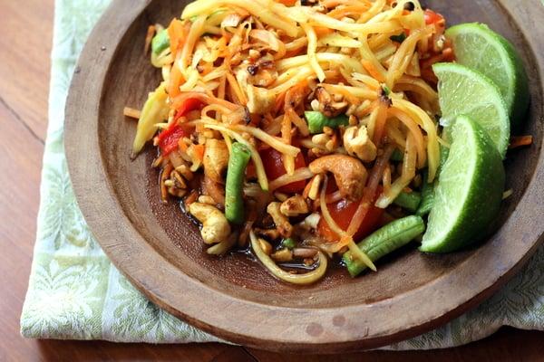 Som Tum Thai Spicy Papaya Salad Inquiring Chef