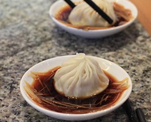 Dumplings at Din Tai Fung Bangkok
