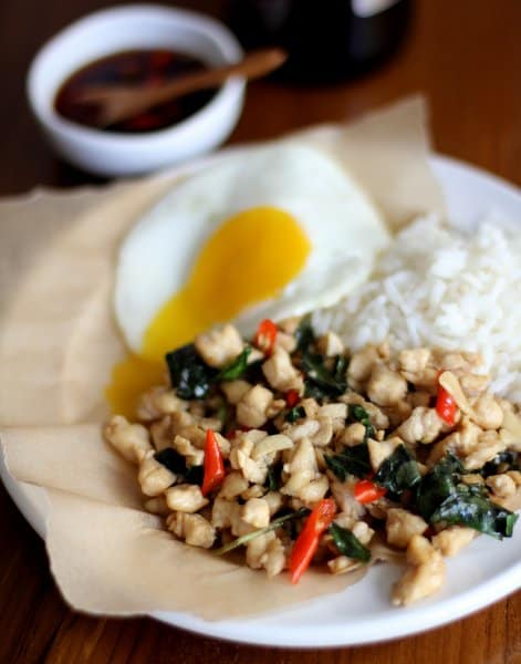 "Thai Chicken with Holy Basil ""Gai Pad Grapow"""