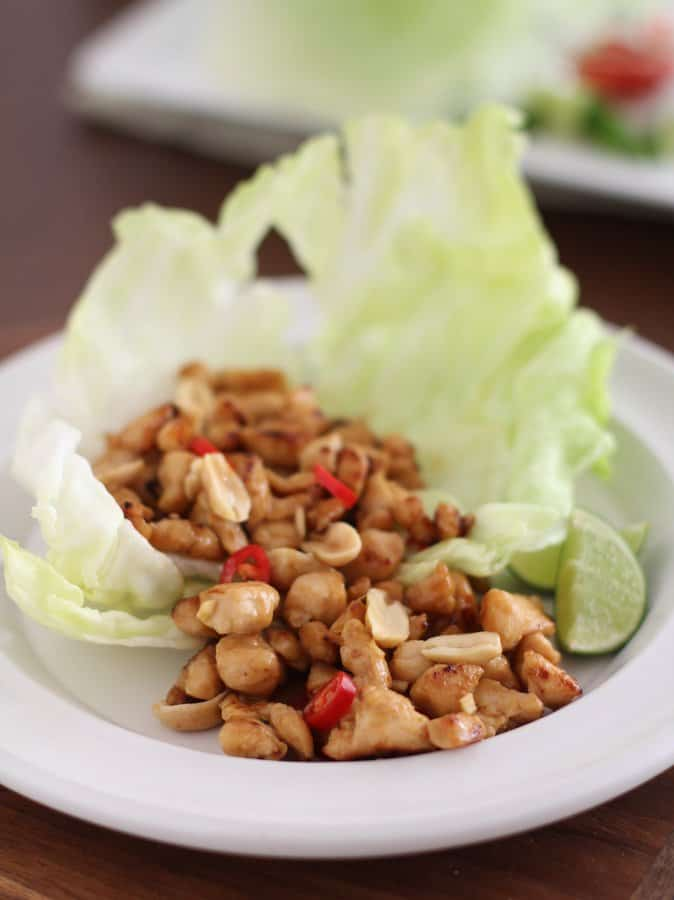 Thai Chicken Lettuce Wraps 3