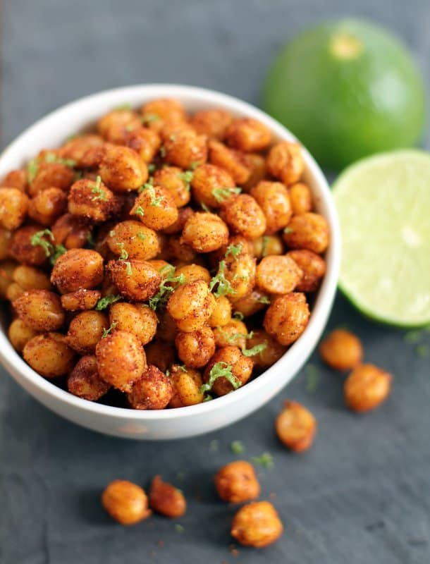 Pan-Fried Crispy Chickpeas with Lime