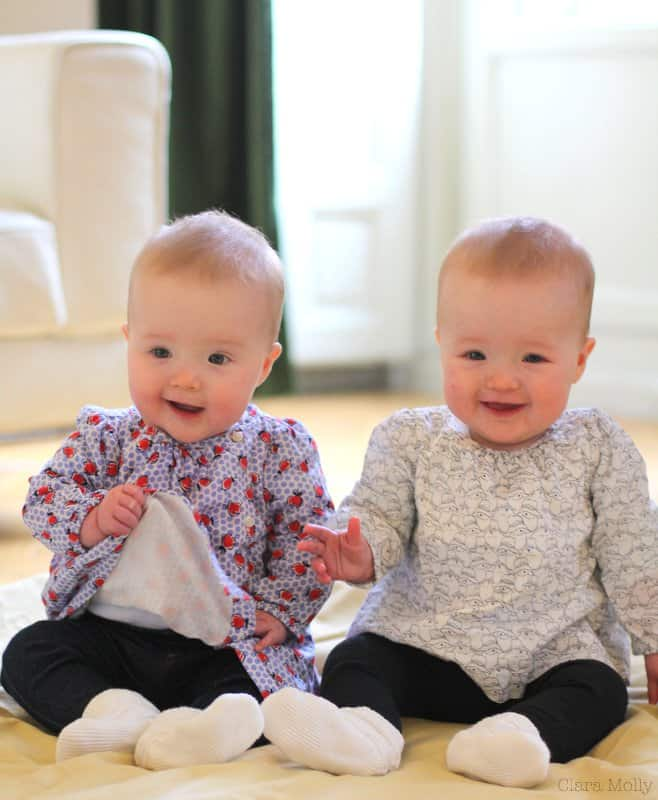 Molly and Clara – 8 Months