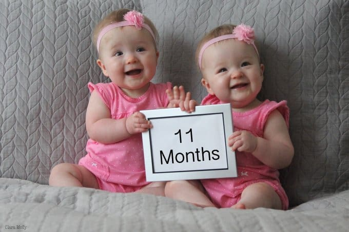Molly and Clara – 11 Months