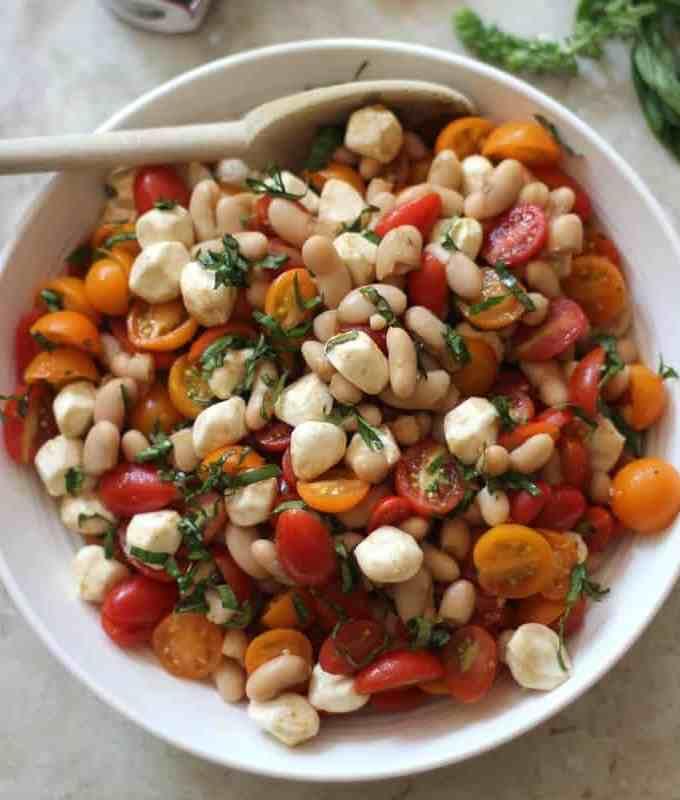 Caprese White Bean Salad