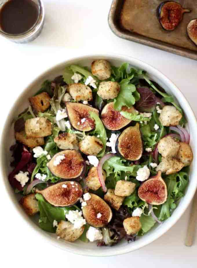 Roasted Fig and Goat Cheese Salad