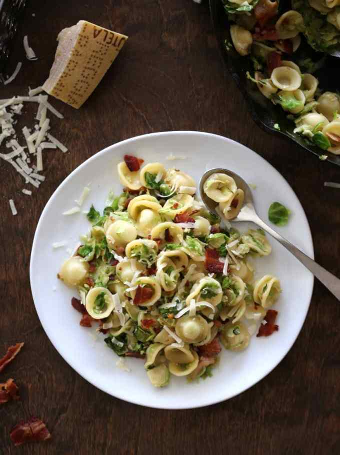 Orecchiette with Bacon and Caramelized Brussels Sprouts