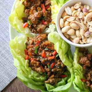 Asian Chicken Lettuce Cups (even better than P.F. Chang's!)
