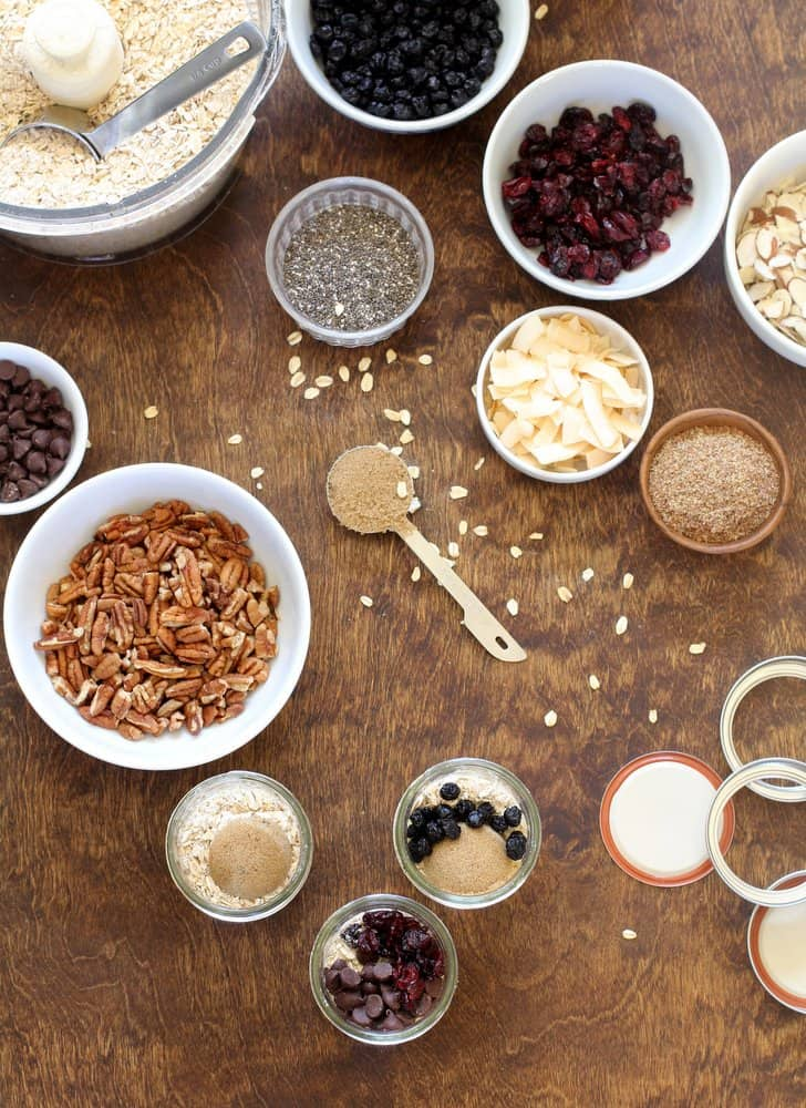 Ingredients for Homemade Instant Oatmeal