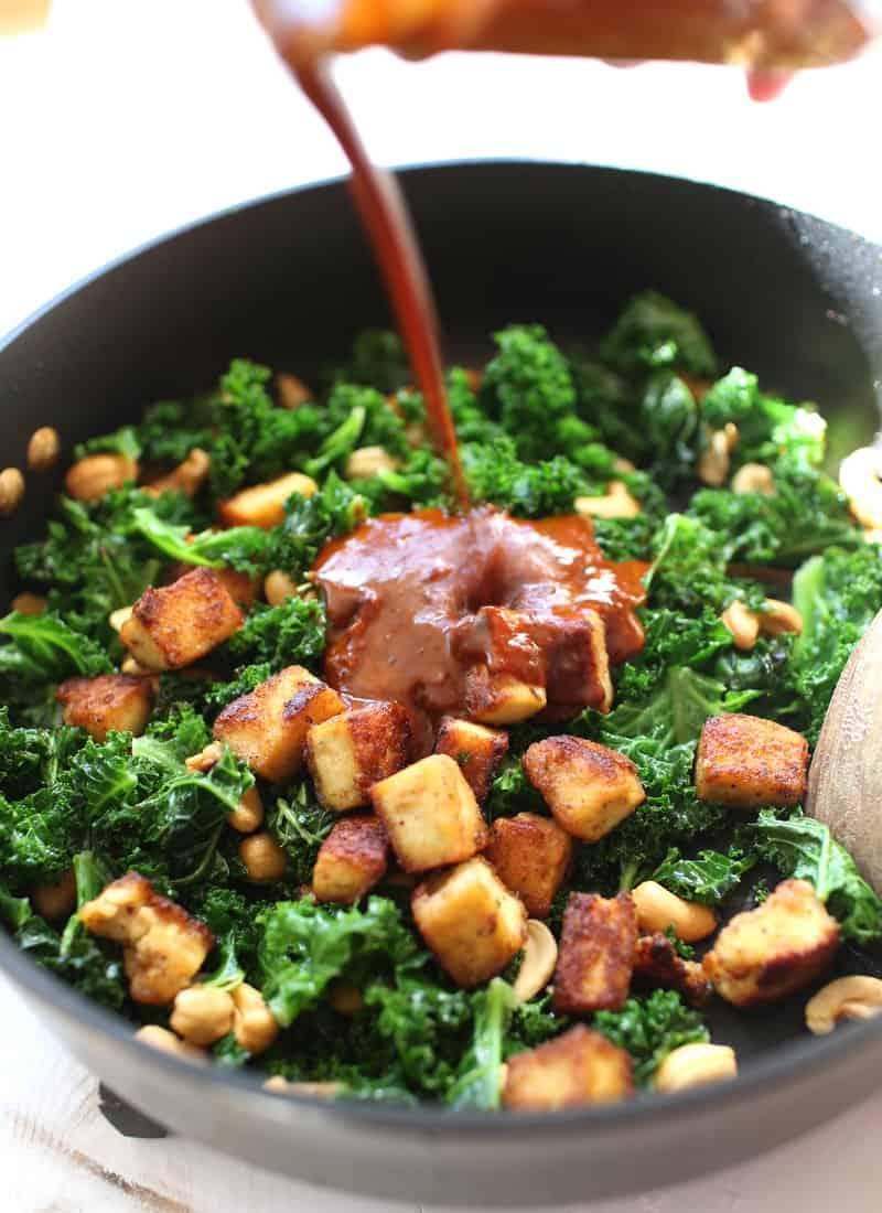 Crispy Tofu Stir Fry with Nam Prik Pao