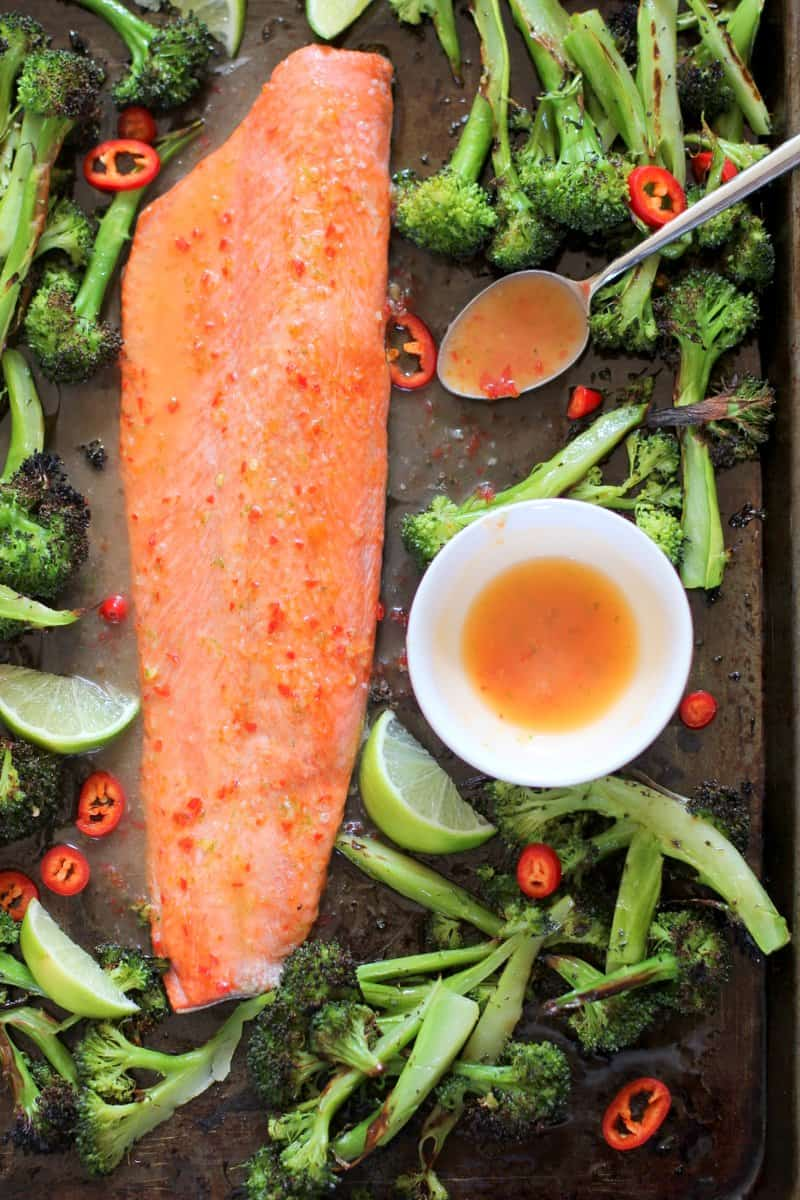 Salmon with Chili Lime Butter