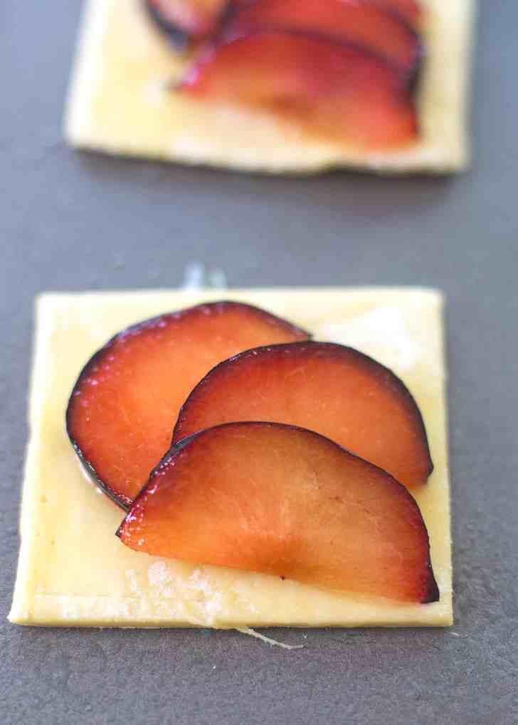 Plum Tarts with Sweet Basil Honey