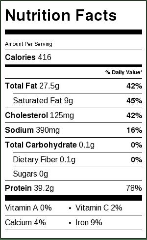 Slow Cooker Crispy Pork_Nutrition Information