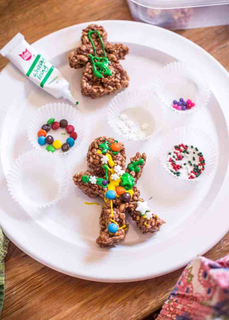 Chocolate Rice Krispies Gingerbread Men