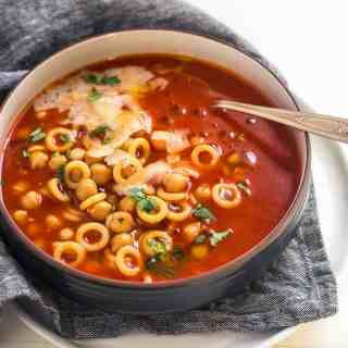 20-Minute Smoky Tomato Soup with Pasta and Chickpeas