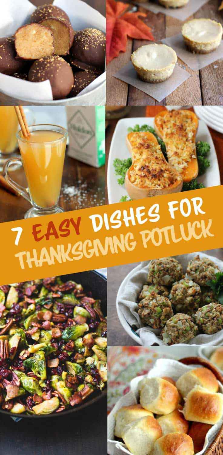 7 Easy Dishes for a Thanksgiving Potluck - Keep turkey day extra simple with these easy dishes to whip up for a Thanksgiving potluck. From side dishes to desserts, all take under an hour to make.
