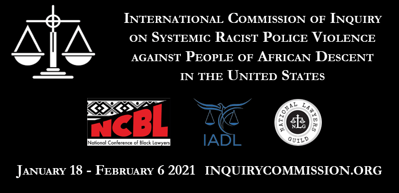 Michael Brown and Breonna Taylor cases before the International Commission of Inquiry on January 29 and 30