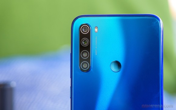 quad camera set up on a Redmi Note 8