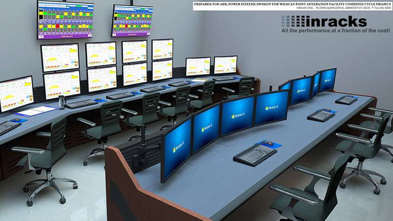 NOC Furniture & Control Room Furniture by Inracks Consoles