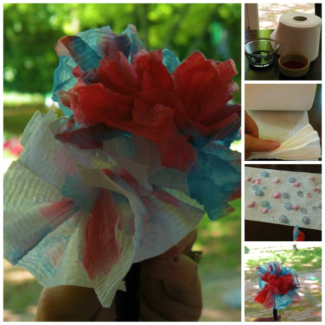 Tissue Flowers Craft