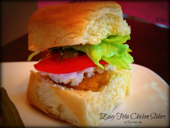 Feta Chicken Slider with Chicken Nuggets