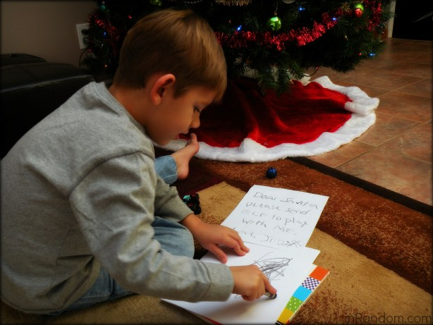 writing letter to santa