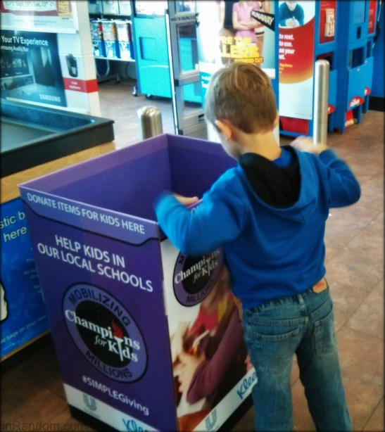 Donation bin Champions for Kids #shop
