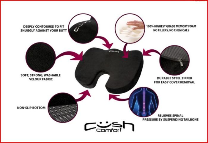 Cush Cushion - The World's Most Comfortable Seat Cushion