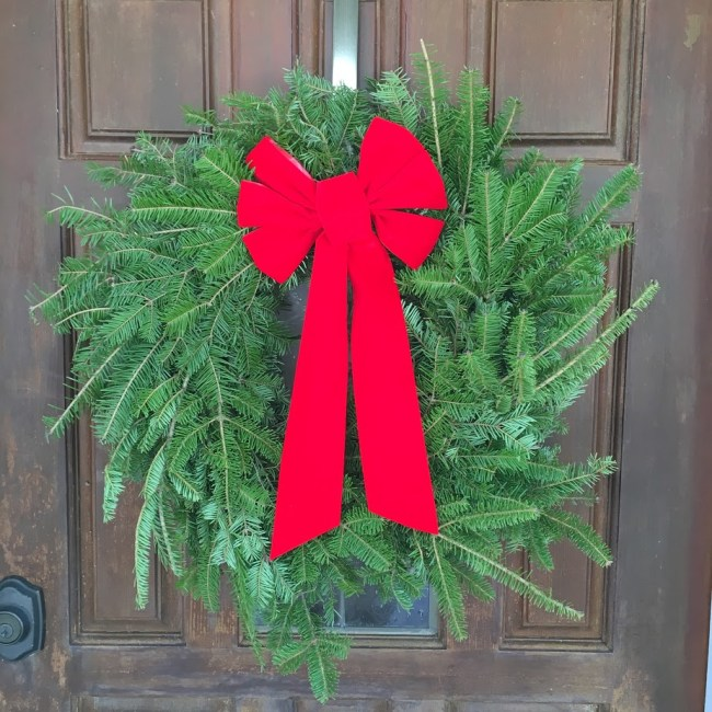 this here is my hilltop christmas tree farms balsam wreath hanging on my door the balsam fir is also an extremely popular christmas choice with excellent - Hilltop Christmas