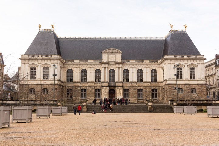 Le parlement de Bretagne à Rennes, qui abrite aujourd'hui le Palais de Justice