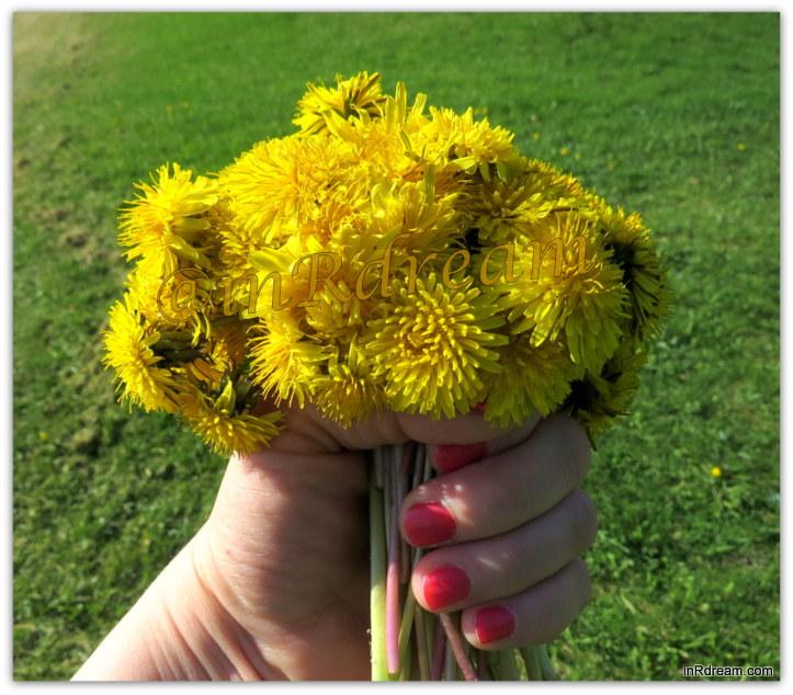 Mother's Day 2014 dandelion bouquet