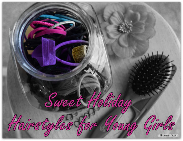 Sweet Holiday Hairstyles for Young Girls #GoodyTips